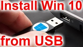 """Install Windows 10 using a USB Thumb Drive (USB Flash Drive)Bootable UEFI USB of Windows 10 using RufusStep 1: Visit http://rufus.akeo.ie/ and download the latest version of Rufus. Rufus is a portable utility and hence doesn't require an installation.Step 2: Connect your 4GB+ USB drive to your PC where you have installed Vista, Windows 7, Windows 8, or Windows 8.1. Be sure to backup all data from your USB drive.Step 3: Run Rufus utility. Click Yes button when you see the UAC prompt to launch the tool.Step 4: Under the Device section, select your USB drive that you want to make bootable, select MBR partition scheme for BIOS or UEFI computers, or GPT partition scheme for UEFI computer depending the type of partition type on your PC.Step 5: Next, select the File system as FAT32 (default) as it supports both BIOS and UEFI. But if you're sure that your PC doesn't support UEFI, you can choose NTFS for a faster installation.Step 6: Enter a volume label, click on the CD/DVD drive icon to browse to the Windows 10 ISO image file. Select the file.Step 7: Finally, click Start button, click OK button when you see the warning dialog to continue its job.Once Rufus completes its job, you'll see """"Done"""" message. That's it!"""