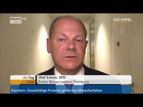 G20-Gipfel: Hamburgs Bürgermeister Olaf Scholz gibt ein ...