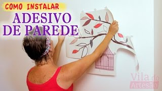 Mostro neste vídeo, como aplicar um adesivo decorativo de parede com todas as etapas.Recebi um adesivo decorativo da Mudo Minha Casa, uma loja virtual, que nos enviou para testar o produto. Veja como foi aplicar um adesivo decorativo de parede do zero. Perca o medo e programe o seu.Site: https://www.viladoartesao.com.brFacebook: https://www.facebook.com/viladoartesao/Pinterest: http://br.pinterest.com/viladoartesao/Instagram: http://instagram.com/vila_do_artesao