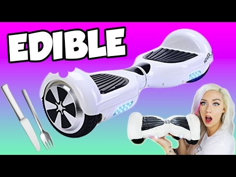 DIY EDIBLE HOVERBOARD | EAT YOUR SWAGWAY (видео)