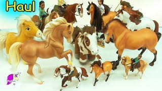 Giant Haul of Spirit Riding Free Breyer horses! (from the new Netflix Horse Series) There are so many new cute horses from Traditional Boomerang, Chica Linda, and Spirit to brushable horse and rider sets with Lucky, Abigail and Pru action figures and more! Enjoy :DCheck out more Spirit:Surprise Blind Bags: https://youtu.be/_XnTOGdkS1YDIY Stablemates: https://youtu.be/AeX9W0sidhUDon't miss any videos!!!! Subscribe here for FREE: http://www.youtube.com/subscription_center?add_user=honeyhearts27---------- Watch More HoneyheartsC Videos ----------♥ Dreamworks Spirit Stallion of the Cimarron Playmobil Video https://youtu.be/mKYwcx3d8fw♥ Play Star Stable online with me: https://www.youtube.com/watch?v=33xj2B8JJFY&index=2&list=PLluOP_tXzEd65IG9bmvnnqn0gvNCIyZSt♥ Disney Beauty And The Beast Movie Toddler Belle & Philippe https://youtu.be/PjH_bLzaORE♥ My Little Pony Derpy , Princess Luna + Horses & Hearts Riding Club  https://youtu.be/t5qNzm8SYtM♥ Roblox Horse Heart Game: https://youtu.be/hX7o_uhm1D8♥ Custom Dollar Tree Horse Makeover Into Glitter Unicorn https://youtu.be/8ad8DlJKbcQ♥ Painting Breyer Unicorns: https://youtu.be/EnpwiOzVoLs~~Welcome to my horse channel! I'm crazy about horses so you will find super fun family friendly videos all about horses!  You will find videos about playset toy reviews, openings, movie series, do it yourself (diy) projects, and so much other awesome things on Breyer traditional, classics, stablemates,  Schleich, Safari, and other model horses.www.honeyheartsc.comFriend me on Instagram: @Honeyheartsc  http://websta.me/n/honeyheartsc♥♥------- Thank you for watching! See you in my next video!-