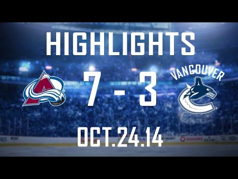 Canucks - The Canucks score 10 seconds into the contest but end their 3 game road trip with a loss in Colorado. Henrik Sedin, Alex Burrows, and Daniel Sedin get Vancou...
