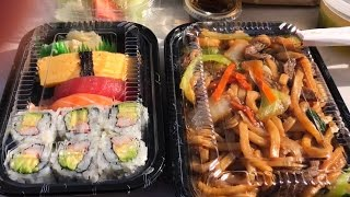 Video Eating Sushi & Japanese Stir Fry Noodles | Mukbang | Eating Show MP3, 3GP, MP4, WEBM, AVI, FLV Juli 2018