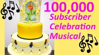Beauty and the Beast Wedding Cake Tutorial Musical
