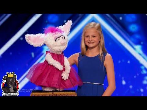 America's Got Talent 2017 Darci Lynne Farmer Ventriloquist Golden Buzzer Auditions 1