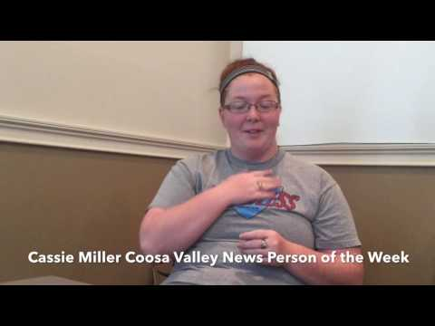 Coosa Valley News Person of the Week - Cassie Miller