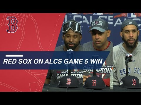Video: ALCS Gm5: Bradley, Cora and Price on ALCS win