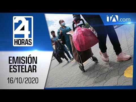 Noticias Ecuador: Noticiero 24 Horas, 16/10/2020 (Emisión Estelar)