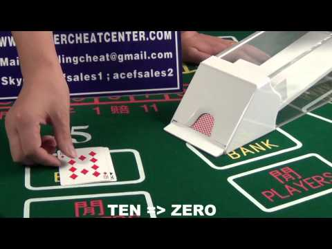 Baccarat cheating device|Blackjack cheating device|Cheating poker shoe|Pin hole cam lens system