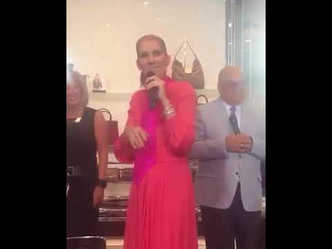 Celine Dion singing Diamond at Brownshoes in Montreal 2017