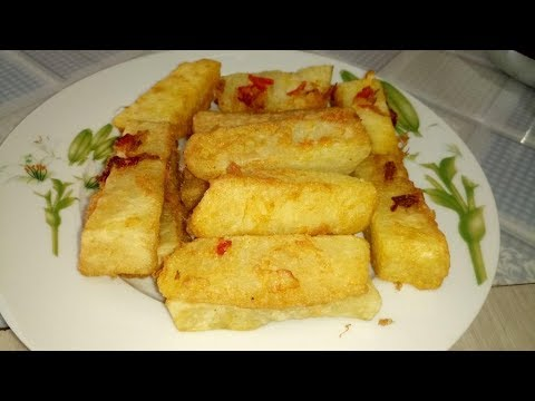 How to make Yamarita (Fried Yam with Egg) | Egg Coated Yam Fries Recipe