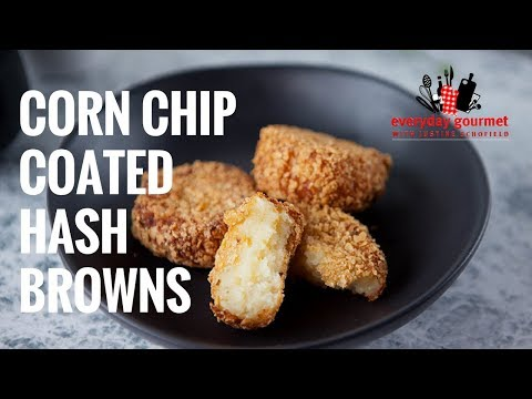 Corn Chip Coated Hash Browns   Everyday Gourmet S7 E24