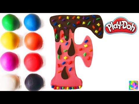 The Letter F. Learning ABC with play doh. Learn Colors & alphabet. simple songs & Nursery Rhymes.