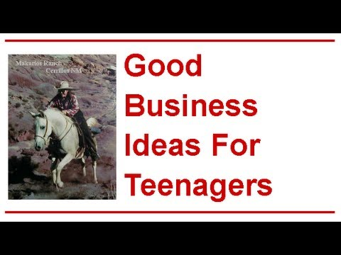 Good Business Ideas For Teenagers – Good Business Ideas For Teenagers ROCK!