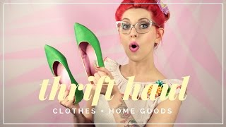 My favorite weekends are spend thrifting! What treasures have you uncovered?***********************************SUBSCRIBE TO MY CHANNEL: http://goo.gl/ywc8Fv***********************************WATCH MORE VIDEOS!! ***********************************1970's Makeup: http://bit.ly/2ogriXC***********************************LET'S HANG OUT: ***********************************Twitter: http://goo.gl/p5hQKfInstagram: @HowtobeFancyFacebook: http://goo.gl/xD1jBG********************WHAT I'M WEARING********************GLASSES by Kate SpadeHaircolor - Arctic Fox: http://goo.gl/sze46iThis is not a sponsored video. All opinions are ALWAYS 100% my very own. Items marked with a * were sent for review purposes.
