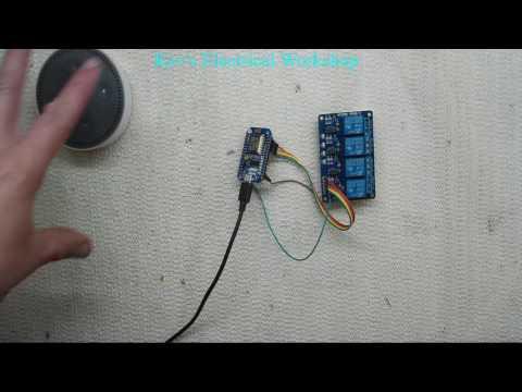 Arduino NodeMCU ESP8266 controlled by Amazon alexa