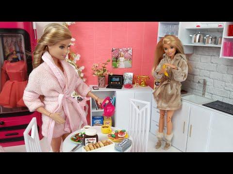 Pleasant Two Barbie Doll Two Ken Morning Bedroom Bathroom Routine Download Free Architecture Designs Rallybritishbridgeorg