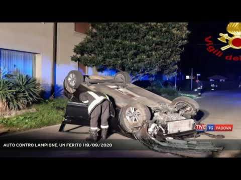 AUTO CONTRO LAMPIONE, UN FERITO | 19/09/2020
