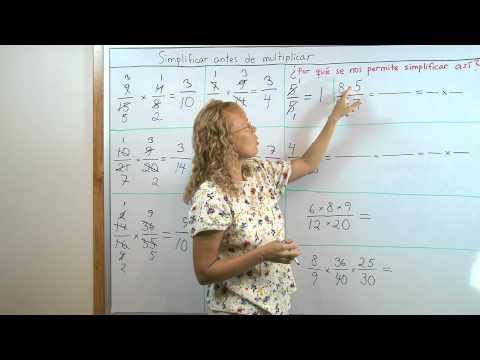 Simplificar antes de multiplicar (fracciones)