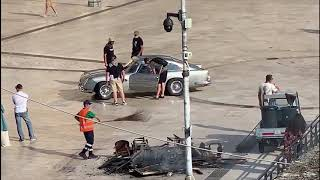 No Time To Die - Aston Martin DB5 filming in Matera, Italy (Aug 25th)