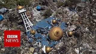 Video Indonesia tsunami devastation filmed from above - BBC News MP3, 3GP, MP4, WEBM, AVI, FLV Desember 2018