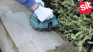 Makita 9741 cleaning concrete