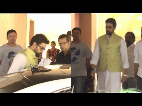 Abhishek Bachchan At Suniel Shetty House