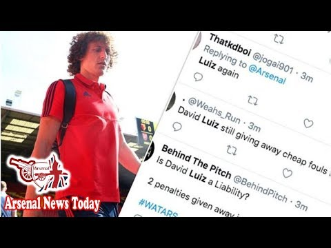 Arsenal fans fuming with David Luiz after costly Watford error - 'Liability'- news today