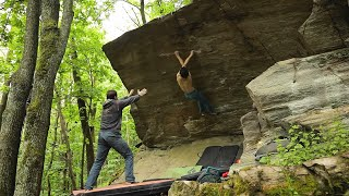 Adam Ondra / Bouldering: Ohnivák 8B by Adam Ondra