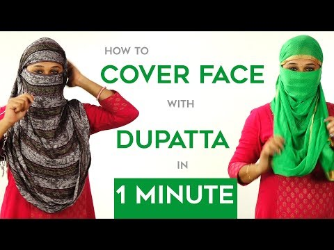 How To Wrap Face With Dupatta  In Just 1 Minute