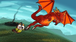 Minecraft Dragons - HOW TO TRAIN DRAGON TO FLY!
