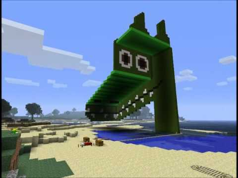 Minecraft 3D Dragon Optical Illusion! - AJEO Gameplays :D