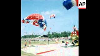 Guidonia Italy  City new picture : SYND 13 9 76 PARACHUTE JUMP CHAMPIONSHIPS TAKE PLACE IN GUIDONIA, ITALY