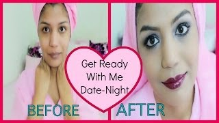 Date Night,Party Clubbing Makeup  And Outfit For Night Out Smokey Eye Wine Lips Makeup Tutorial