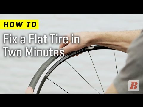 Learn how to fix a flat on a bicycle tyre in two minutes.