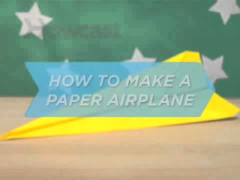 How To Make a Paper Airplane   Paper Crafts   Howcast com