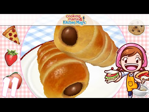 [Let's Play] Cooking Mama 4 Kitchen Magic - EP11: Chocolate Cornet ٩(♡ε♡ )۶