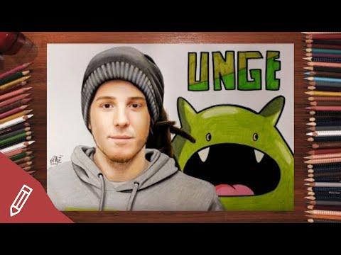 SPEED DRAWING: Simon Unge / Ungespielt – REALISTIC PENCIL PORTRAIT   Zeichnen Mit Buntstiften