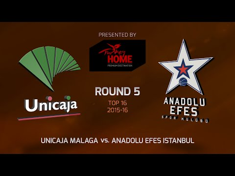 Highlights: Top 16, Round 5, Unicaja Malaga 75-85 Anadolu Efes Istanbul