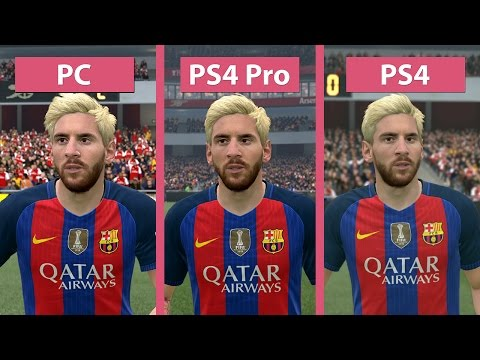 4K UHD | FIFA 17 – PC 4K Vs. PS4 Pro 4K Vs. PS4 Graphics Comparison