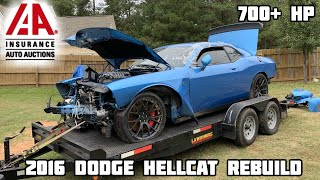 Video Rebuilding a Wrecked 2016 Dodge Hellcat MP3, 3GP, MP4, WEBM, AVI, FLV Januari 2019