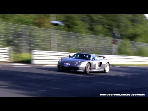 4x Porsche Carrera GT at the Nurburgring - GT Events EVO