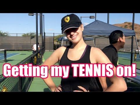 Getting my TENNIS on... LOL | Jordan Byers