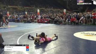 Junior WM 112 Consi of 32 #2 - Gwendolyn Golueke (WI) vs. Quiovany Santos (IL)