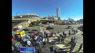 Panthers vs 49ers TIme Lapse From the roof of The WFNZ Doghouse