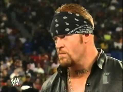 Undertaker and Brock Lesnar after Hell in a cell Smackdown 2002