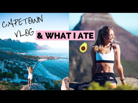 CAPE TOWN VLOG //  WHAT I ATE IN A DAY + WORKOUTS  // HEALTHY VEGAN  BREAKFAST, LUNCH & DINNER