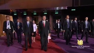 Chinese President Xi Jinping has attended a grand gala show at the Hong Kong Convention and Exhibition Center marking the...