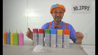 Blippi Painting Giveaway   Learn Colors With Paint