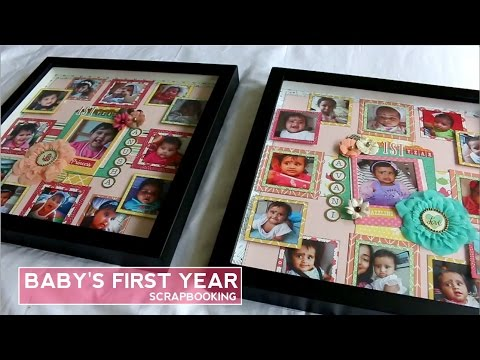 DIY Baby First Year Photo Frame | Scrapbooking